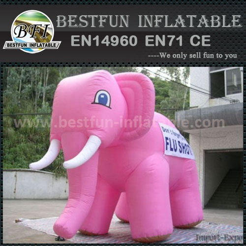 Advertising giant inflatable elephant