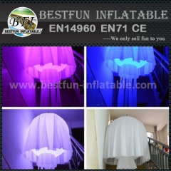 Inflatable led light jellyfish decoration
