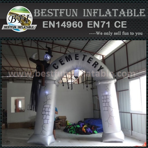 Promotional light inflatable halloween arch