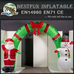 Giant outdoor inflatable christmas arch with LED light