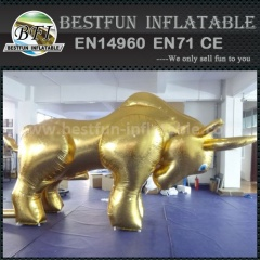 Inflatable bull model for event