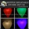 Large inflatable lighting heart party decoration for sale