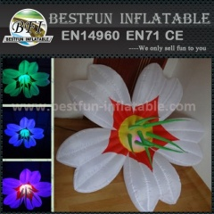 Flower shape inflatable light pillar