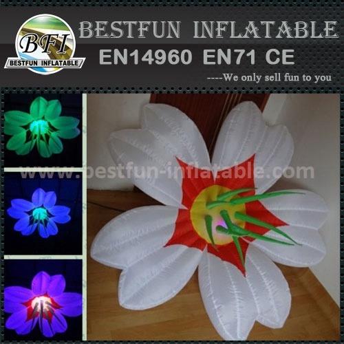 Flower shape inflatable light pillar