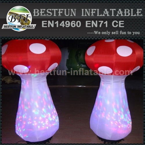 Pillar inflatable led mushroom for festival decoration