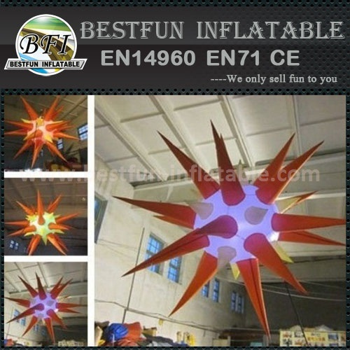 Led inflatable stars for modle show