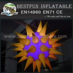 Inflatable shining flower model