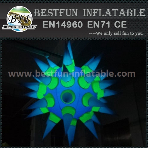 Inflatable lighted helium balloon