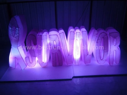 2015 Newest design custom inflatable lighting letters
