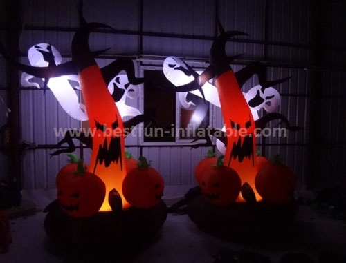Hot sale halloween inflatable with led
