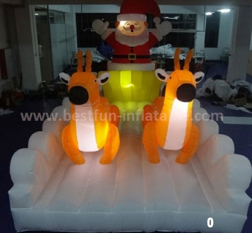Led lighting inflatable christmas party decor