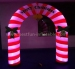Outdoor advertising Inflatable lighted arch for Christmas