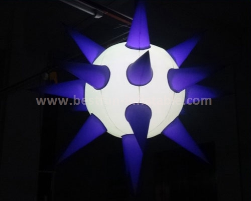 Colorful decoration inflatable sun with led light