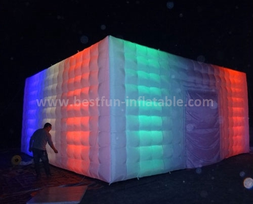 Led inflatable booth tent for trade show