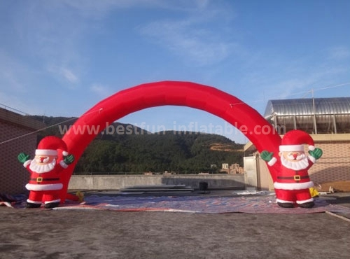 Outdoor Red Inflatable Christmas Arch