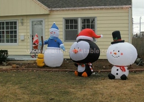 Outdoor whosale christmas inflatable snowman models