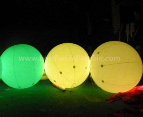 Party decoration inflatable balloon with led light