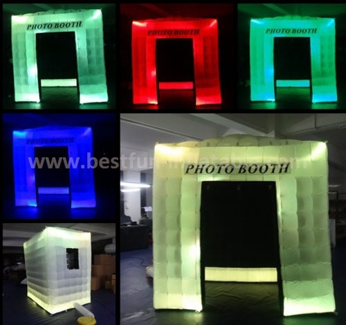 Portable digital led lighting inflatable photo booth