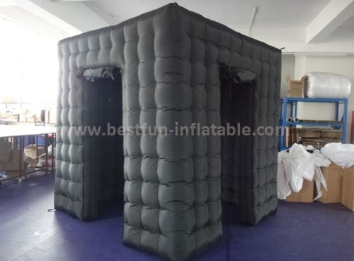 Portable inflatable photo booth outdoor