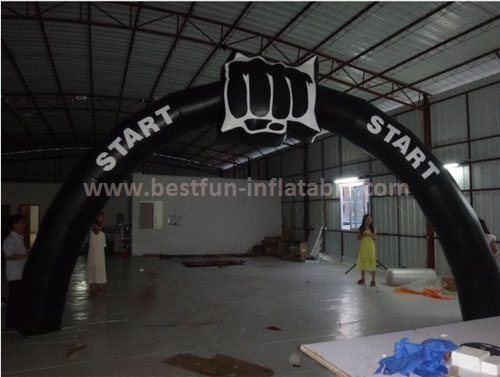 Racing inflatable start finish line arch