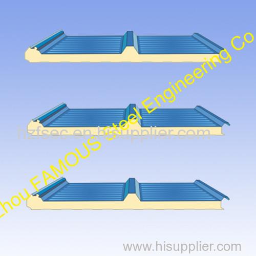 Construction Material PU Insulated Sandwich Panels Polyurethane Foam