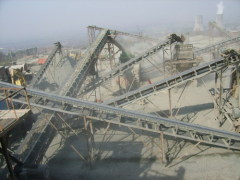Large capacity stationary stone crushing plant with low price