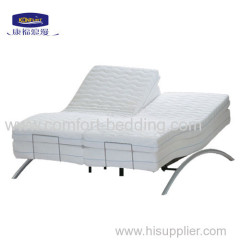 Foam massage adjustable bed with underbed lighting