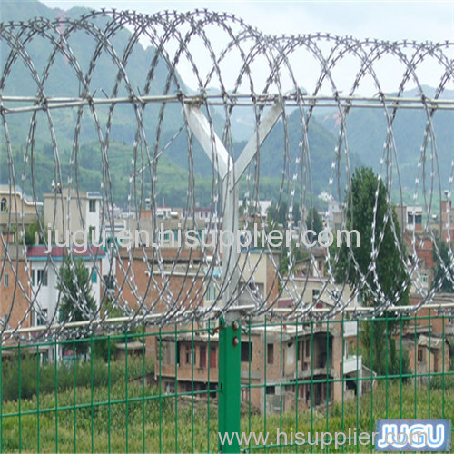 hot dipped galvanized concertina wire fence