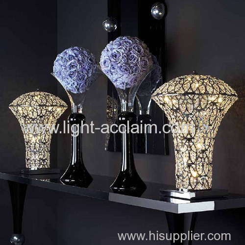 Classical modern decorative lamp carved hollow crystal lamp originality crystal table lamps