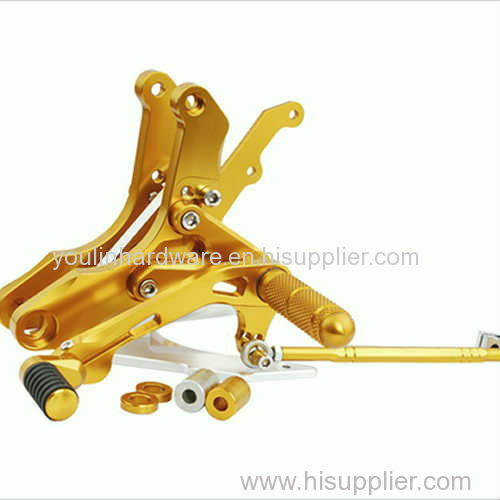 Motorcycle front foot pegs