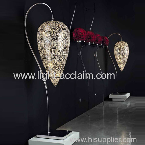 Laser cutting technology S type crystal floor lighting Stainless steel lamp