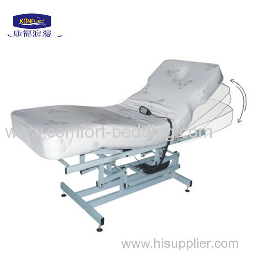 Facial adjustable bed