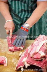 Stainless steel metal mesh butcher glove