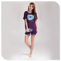 Apparel & Fashion Shirts & Blouses Kiss print bamboo fiber Summer loose T-shirt short sleeves blouses
