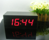 led wood clock*display time date temperature*desk clock*gift*sound control function*5 groups of alarm