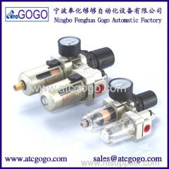 Pneumatic air filter regulator lubricator SMC type FRL Combination with copper filter cartridge