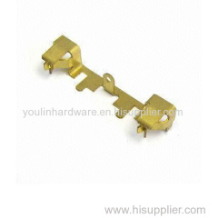 China OEM customized stamping parts with yellow zinc plated