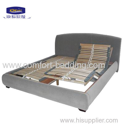 Modern Wooden slat Adjustable Bed