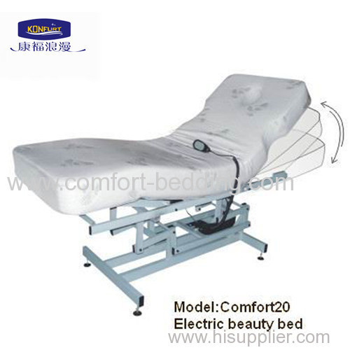 Electric lifting beauty bed