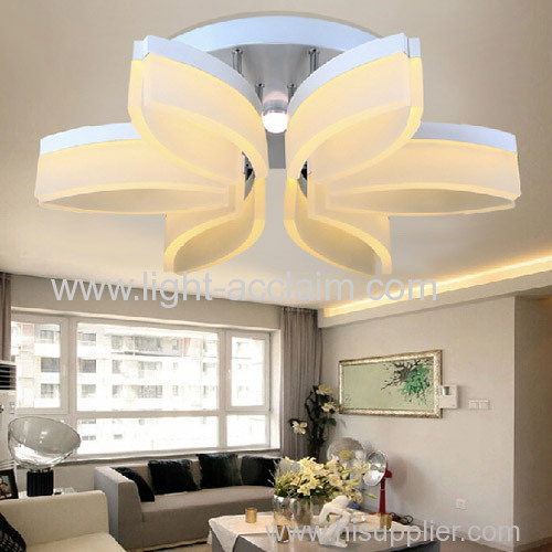 The flower type wholesale led acrylic lighting romantic bedroom ceiling lamps