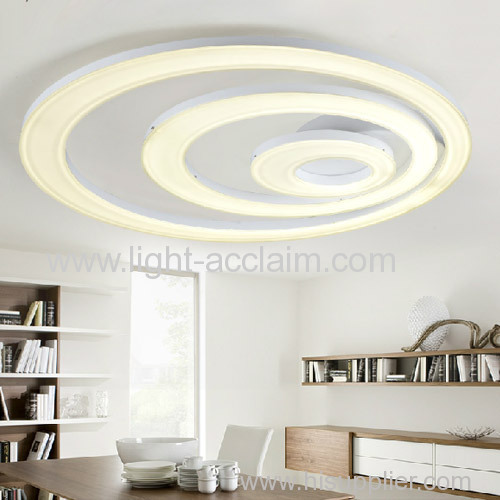 Unique designed led modern living room acrylic ceiling light