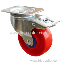 "5"" Swivel Brake PP Industrial Handcart Castor With Top Plate Fitting"