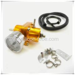 High PerformanceUniversal Adjustable Fuel Pressure Regulator For Diesel Kit Oil 0-160psi Gauge Universal Black -6AN