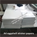 Custom A4 size destructible eggshell sticker papers custom blank sheets size brittle eggshell graffitti sticker papers