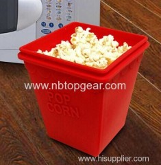 Microwave silicone popcorn magic bowl