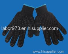 black dot diamond glove