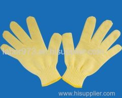 600g seven needle yellow line glove