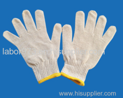 500g ten needle white line yellow corner glove