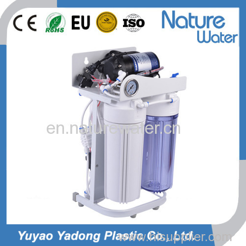 6stages Reverse Osmosis water filter System with frame and pressure gauge and mineral filter or UV sterililzer