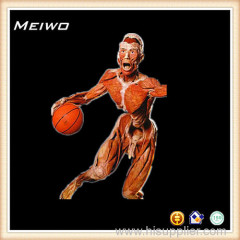 Playing basketball posture process of plastination